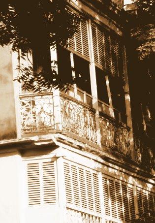sepia balcony